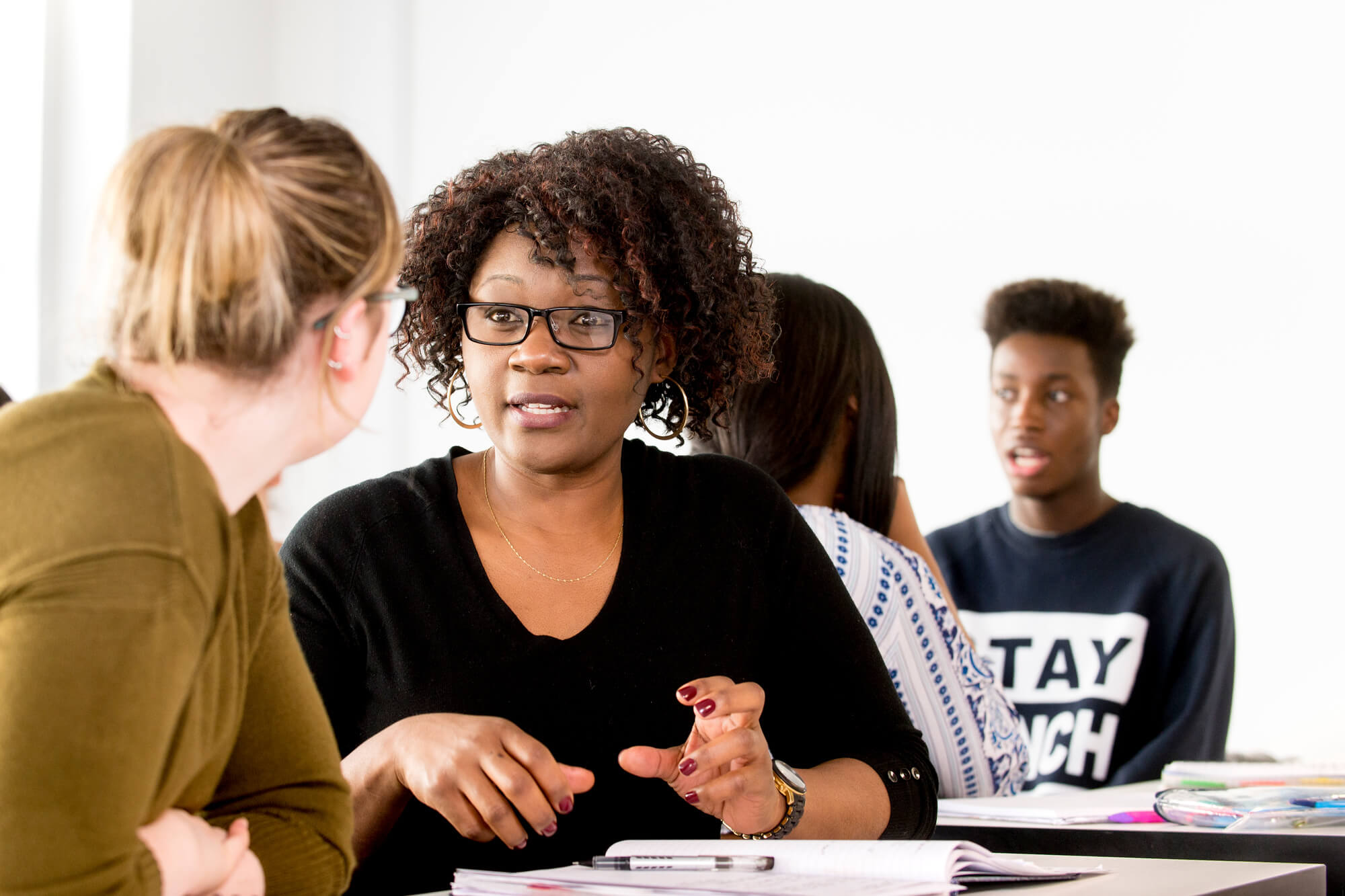 Counselling and Psychotherapy students take part in a discussion