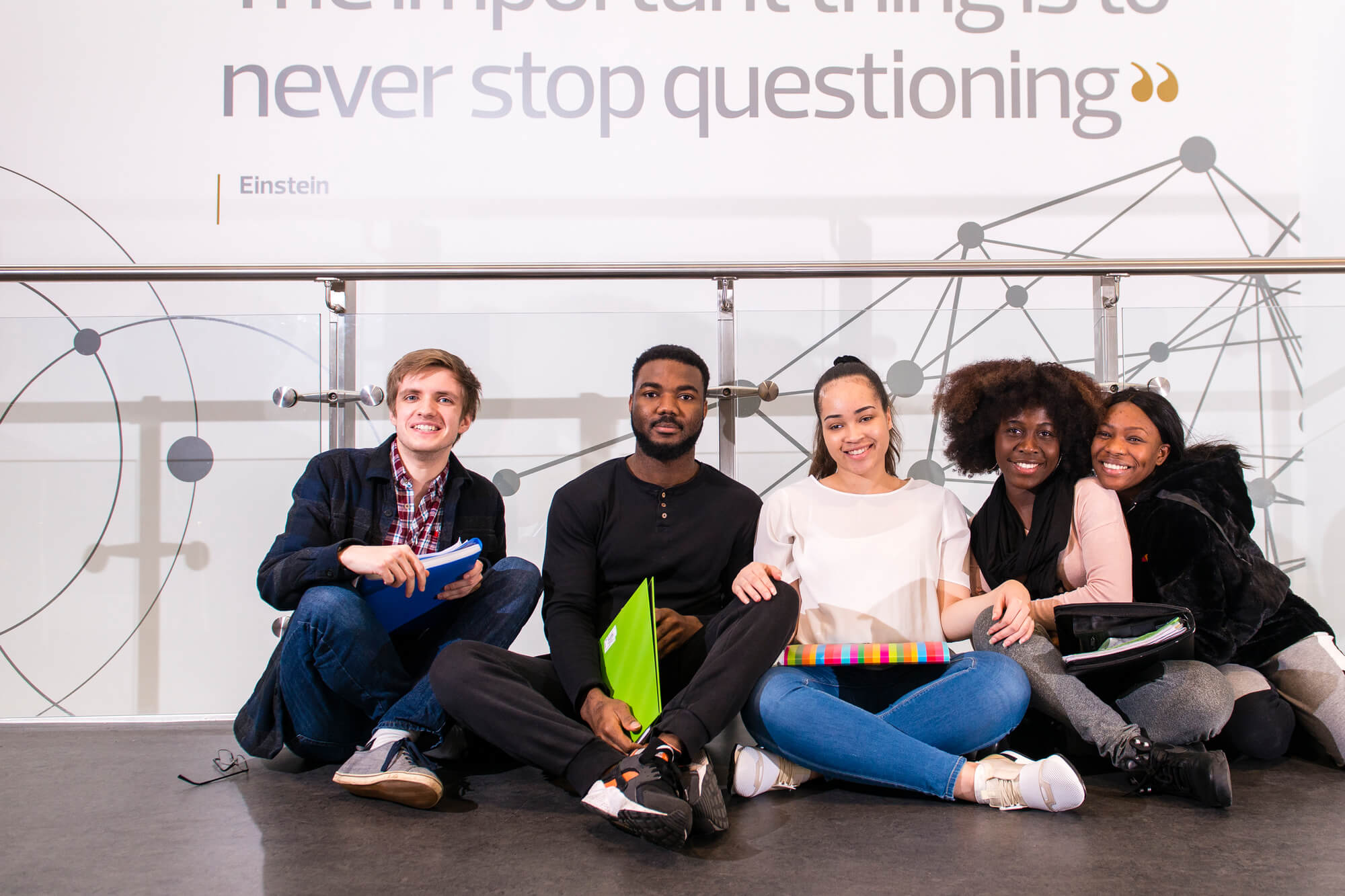 Students at Markeaton Street
