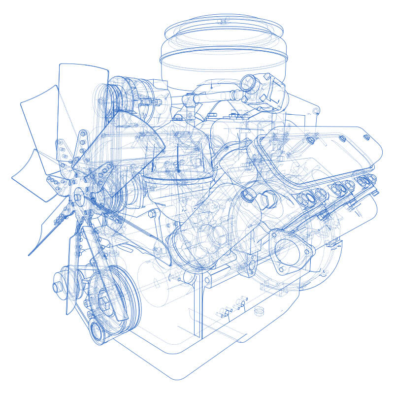 A sketch of an engine