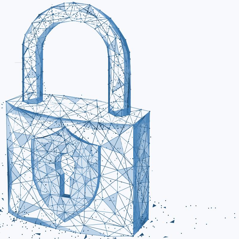 A sketch of a padlock