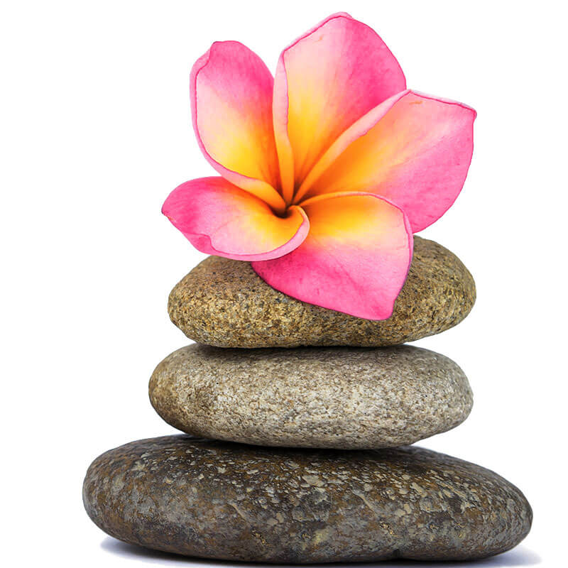 Massage Stones and flower