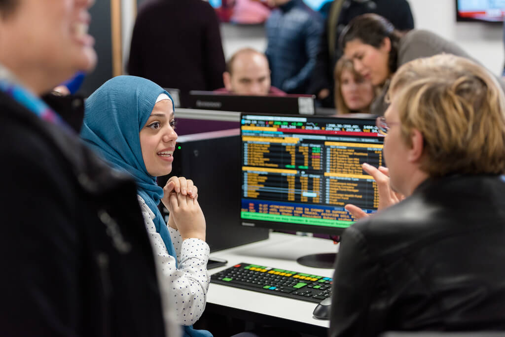 Student in Bloomberg Lab