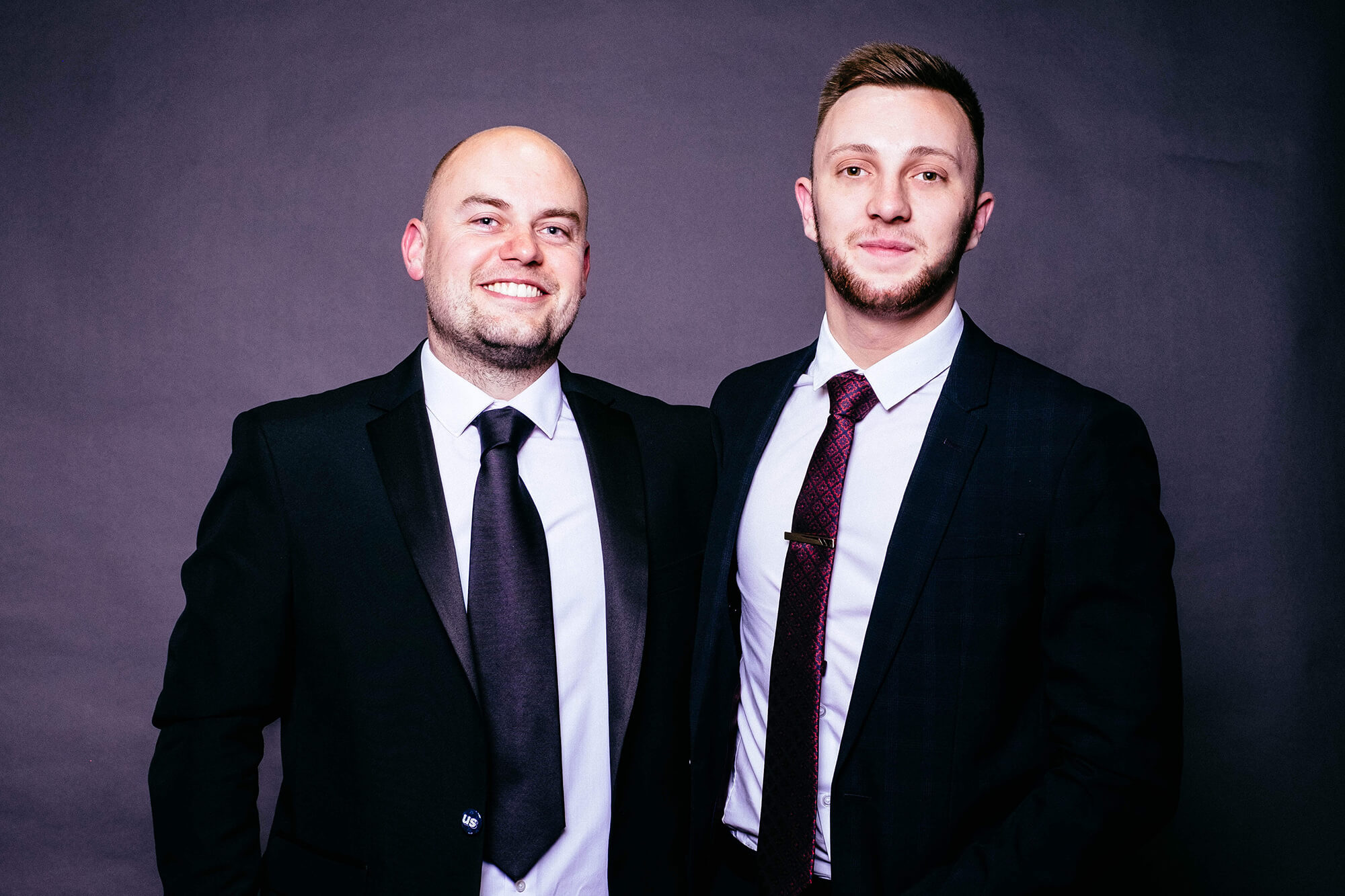 Ryan Wheeler with Dan Ilsley from the Estates Department