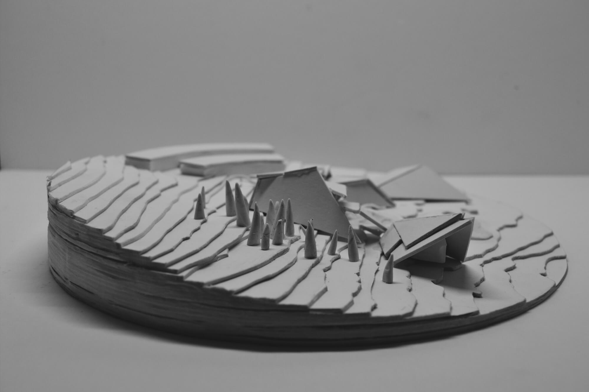An architectural model from the Peak Gateway project.