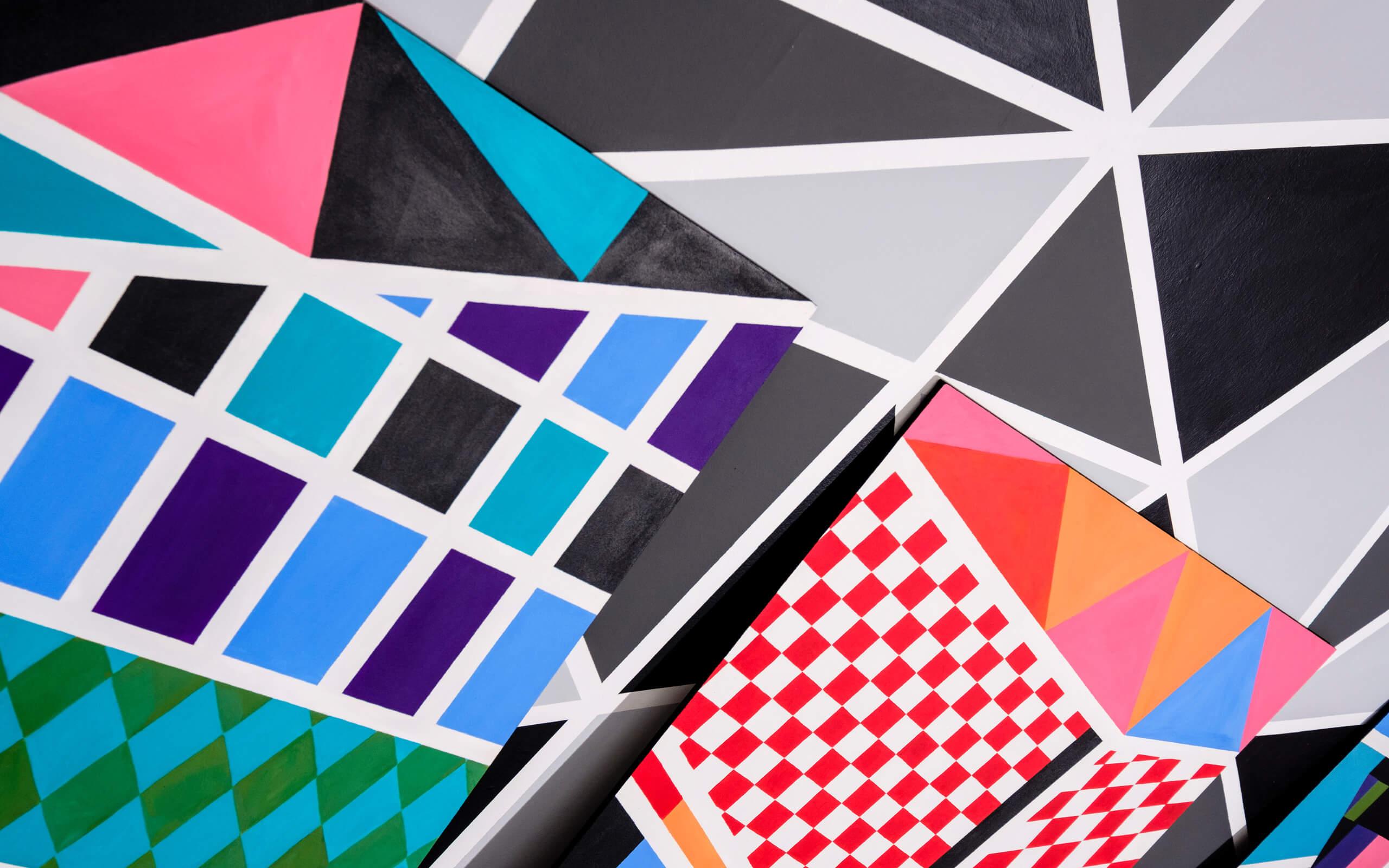 colourful cube artwork
