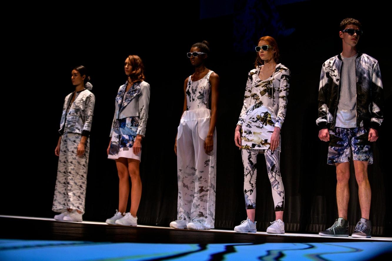 A lineup of models