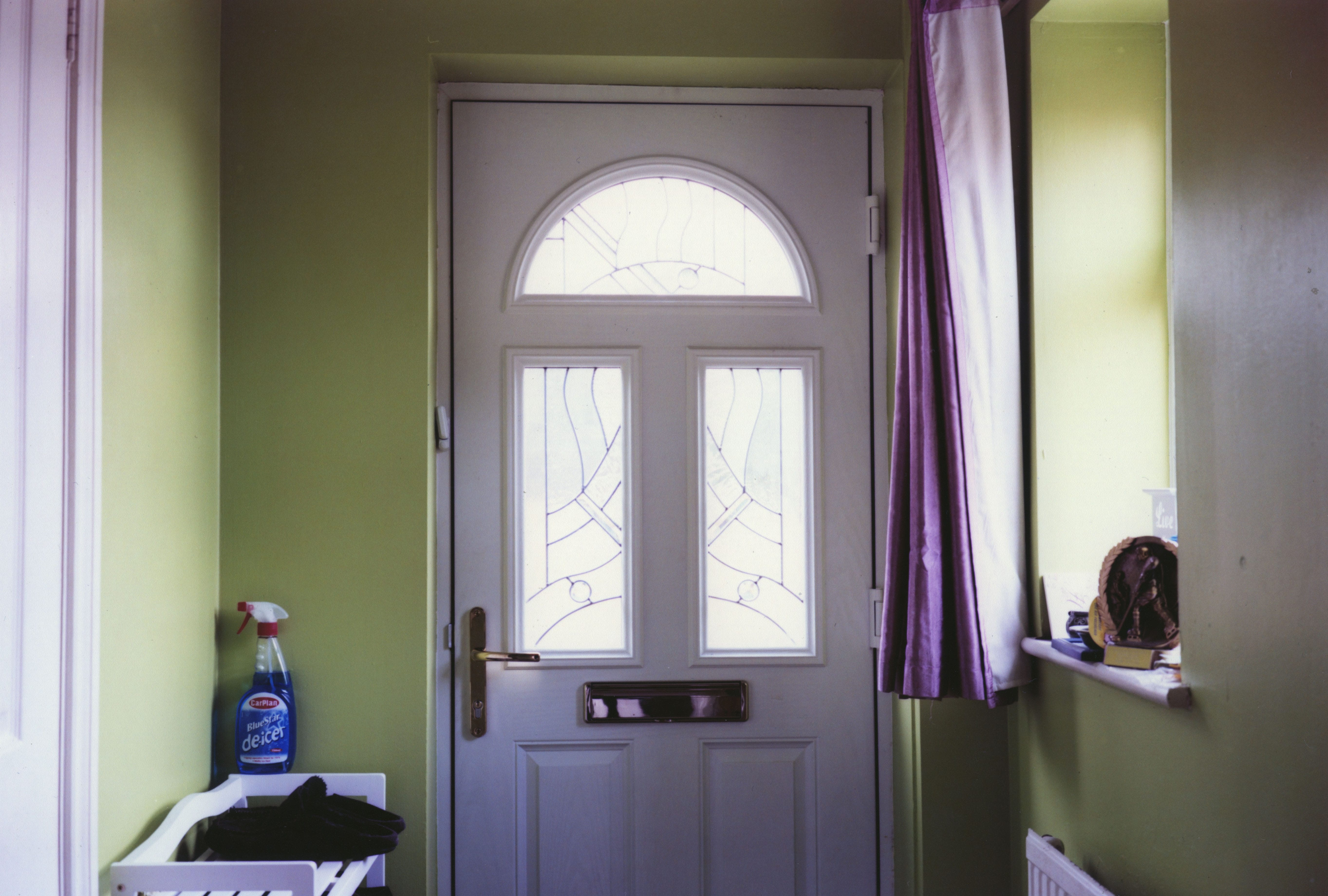 Photo of the interior of a front door