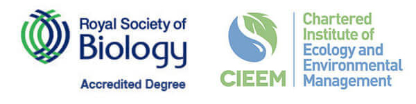 Royal Science of Biology and CIEEM Accreditation Logos