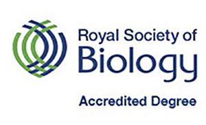 Royal Society of Biology accredited degree logo