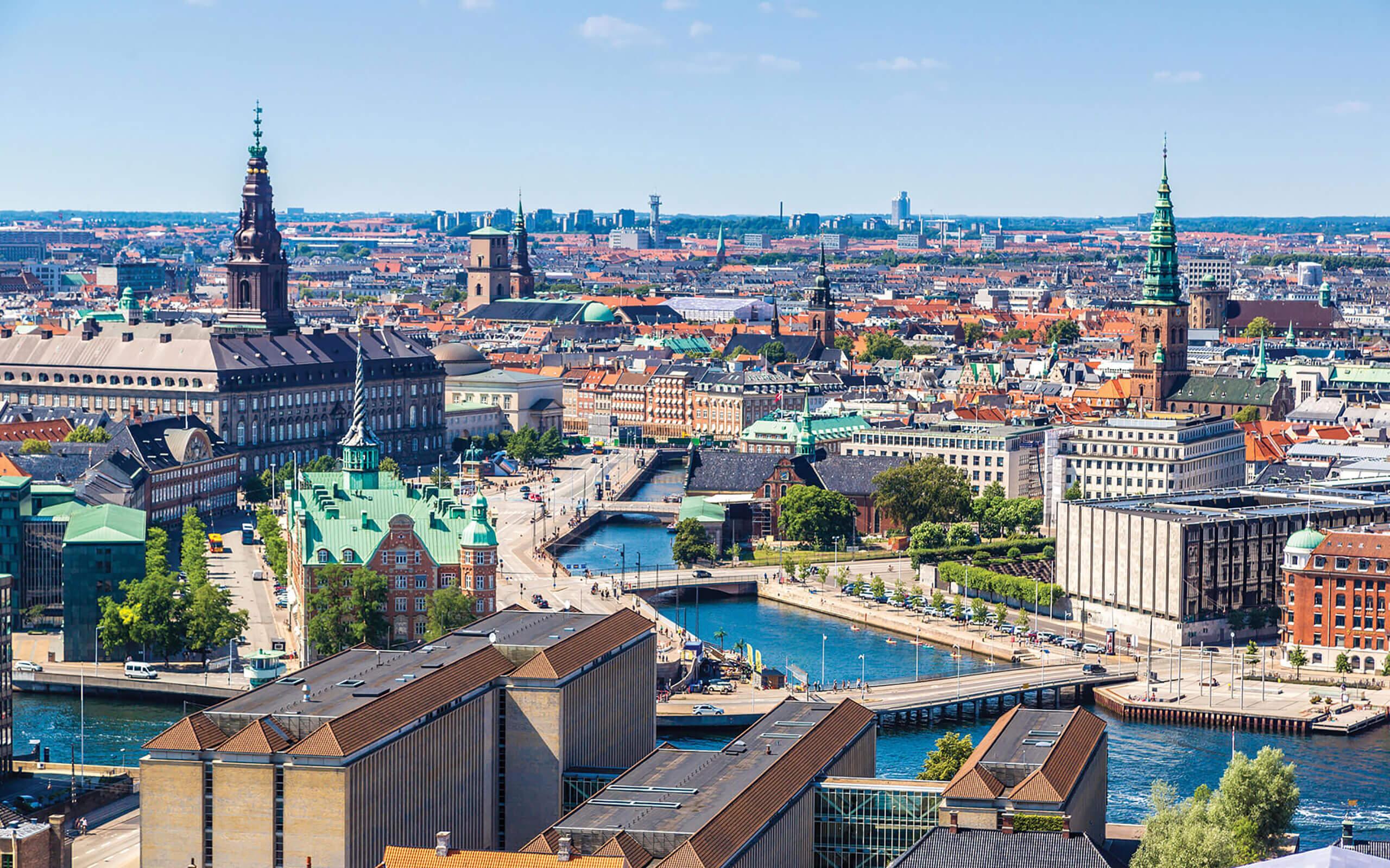 View over city of Copenhagen