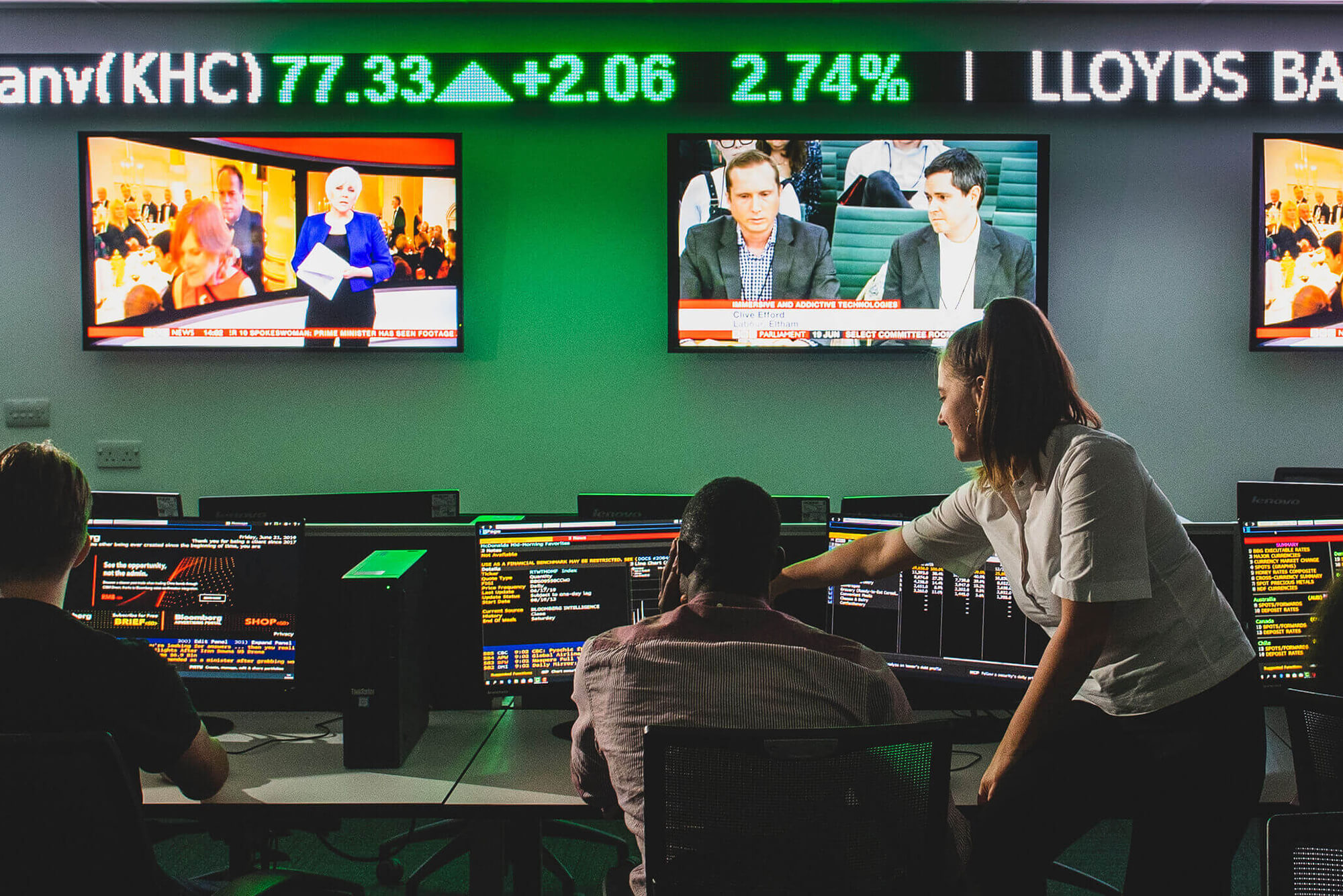 students working in our Bloomberg lab