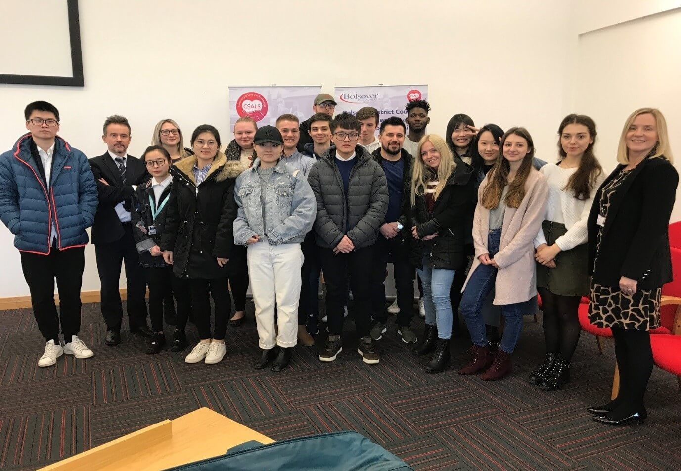 Students visit Bolsover District Council