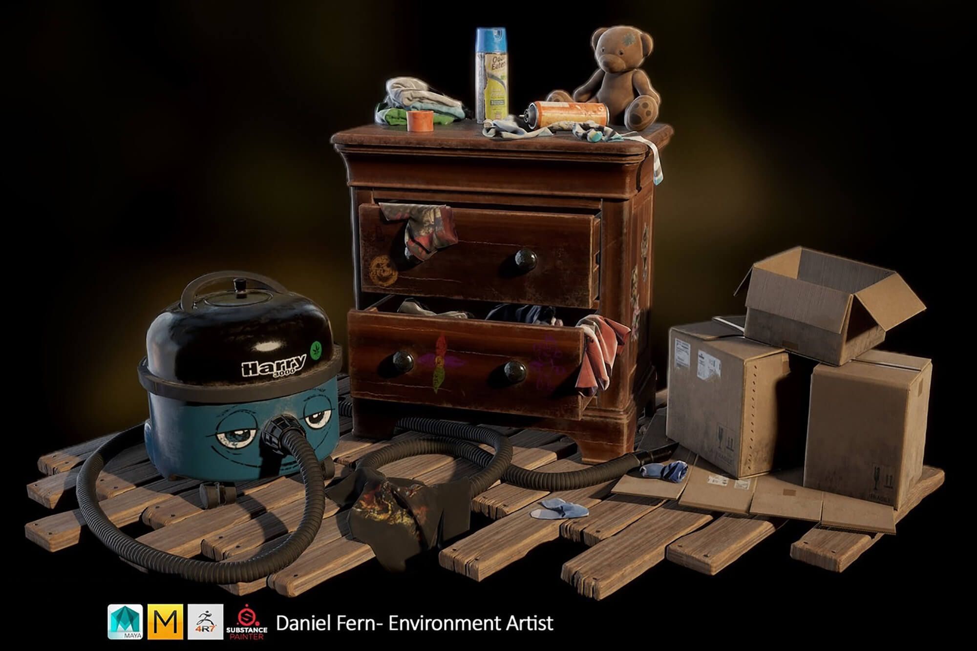 Prop assets by Daniel Fern