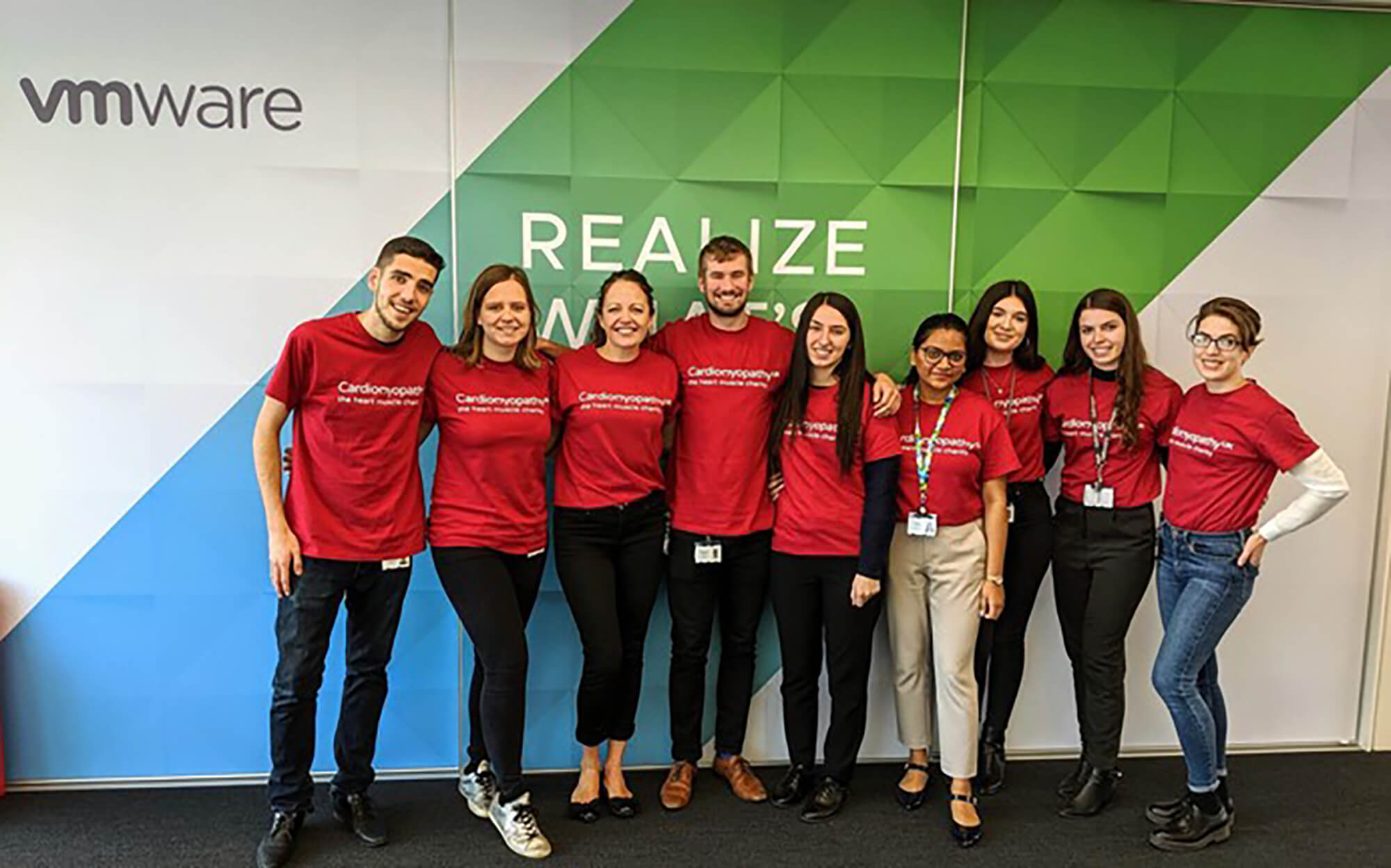 Celine on her placement year with her colleagues at VMware