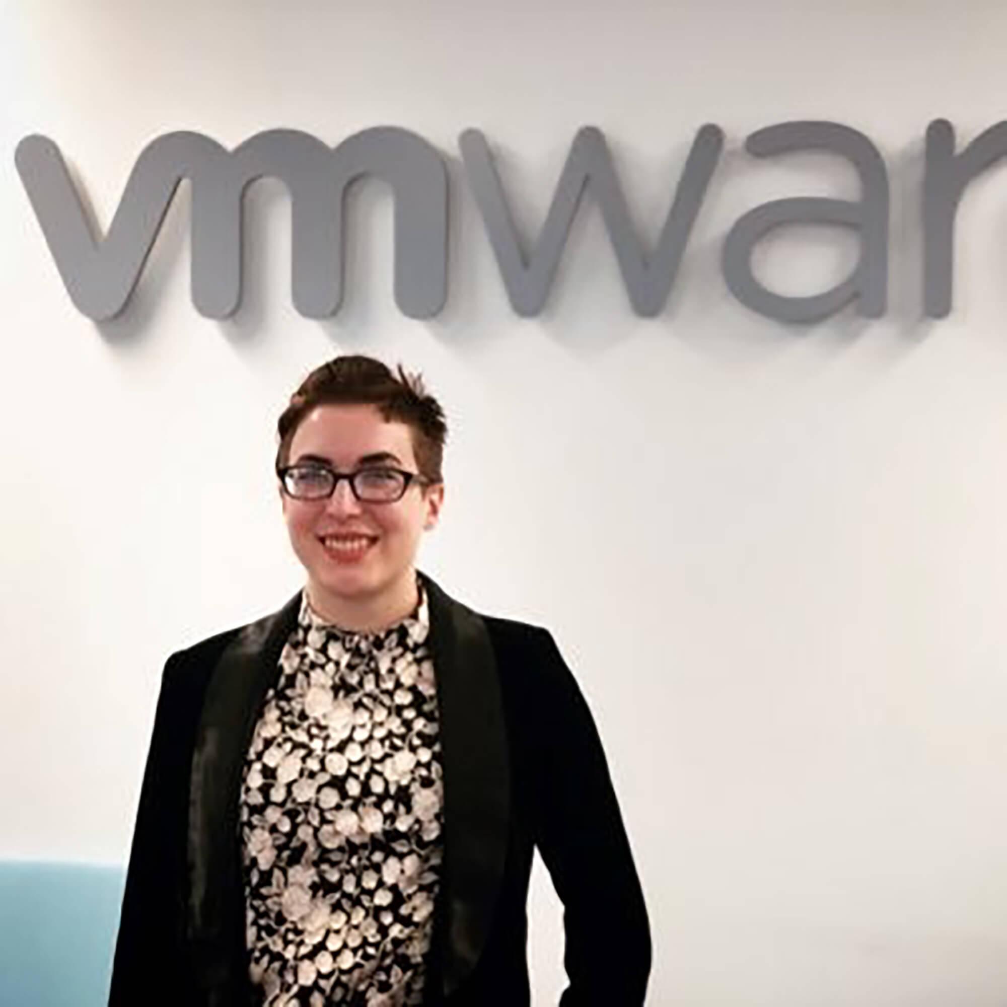 Celine Pypaert at work at VMWare in Dell
