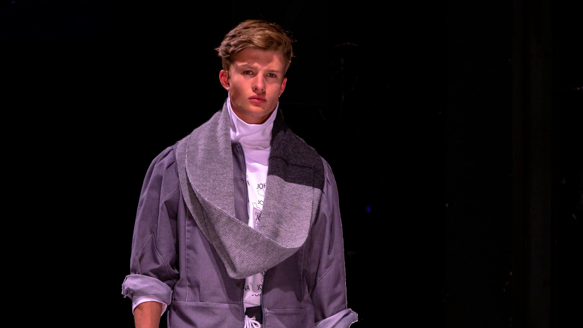 YouTube video of University of Derby student Johanna talking about her experience of studying Fashion and her third year menswear collection being showcased at Derby Theatre