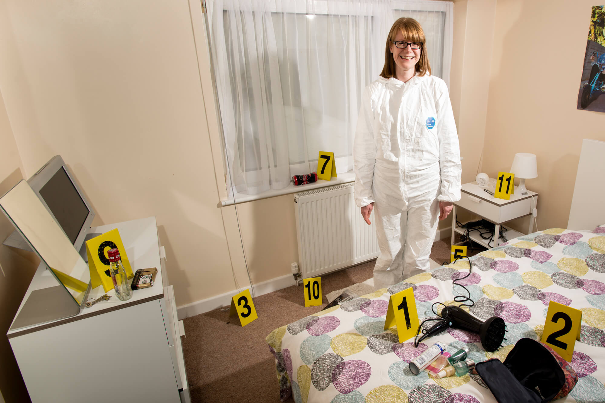 Rebekah Muldowney in a room at our Forensic Training Facility