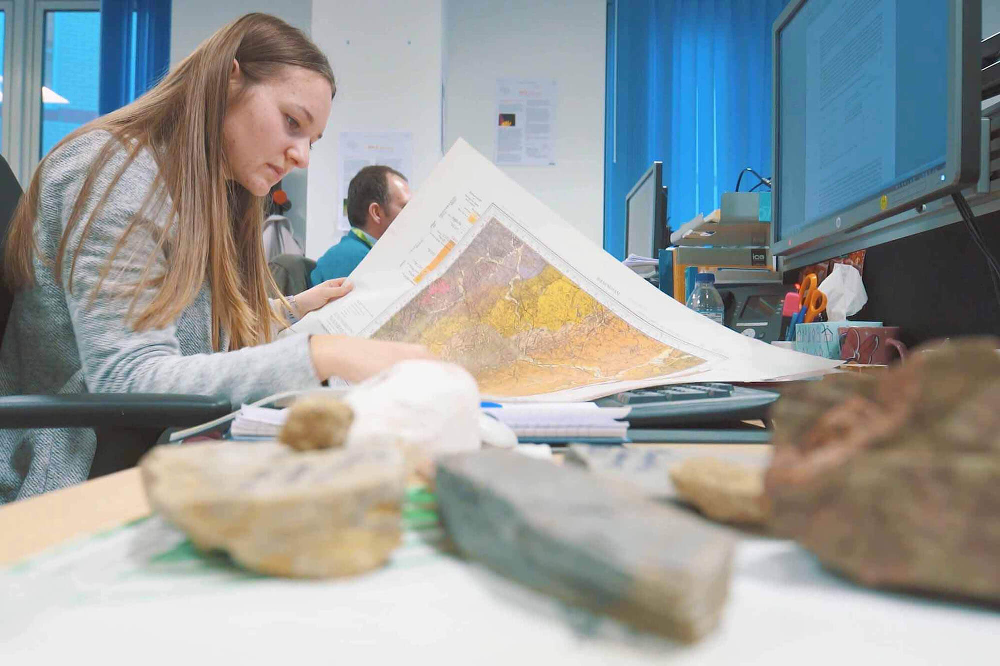 Geology graduate Paige Colling at work