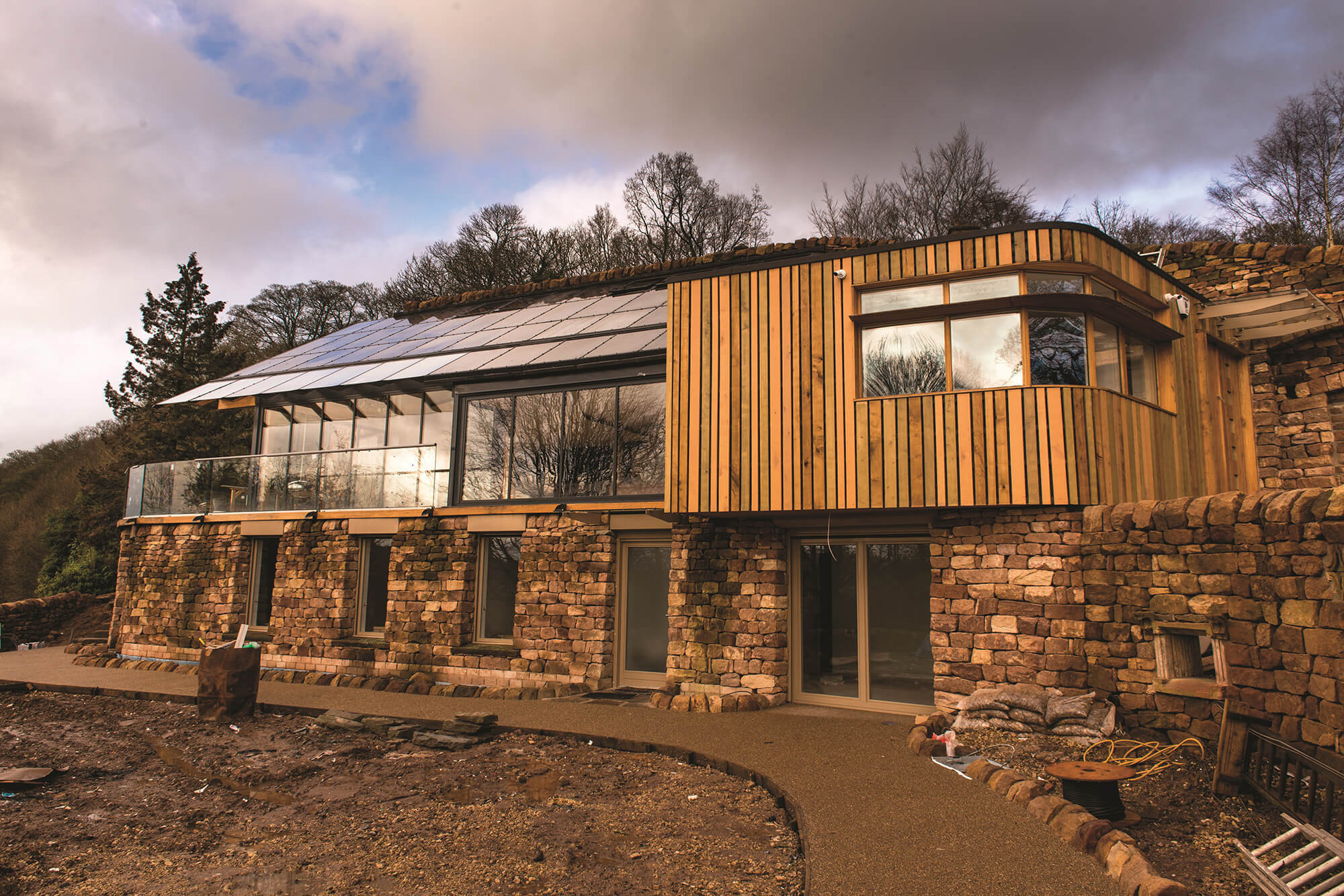sustainable house which was built with the help of our architecture students