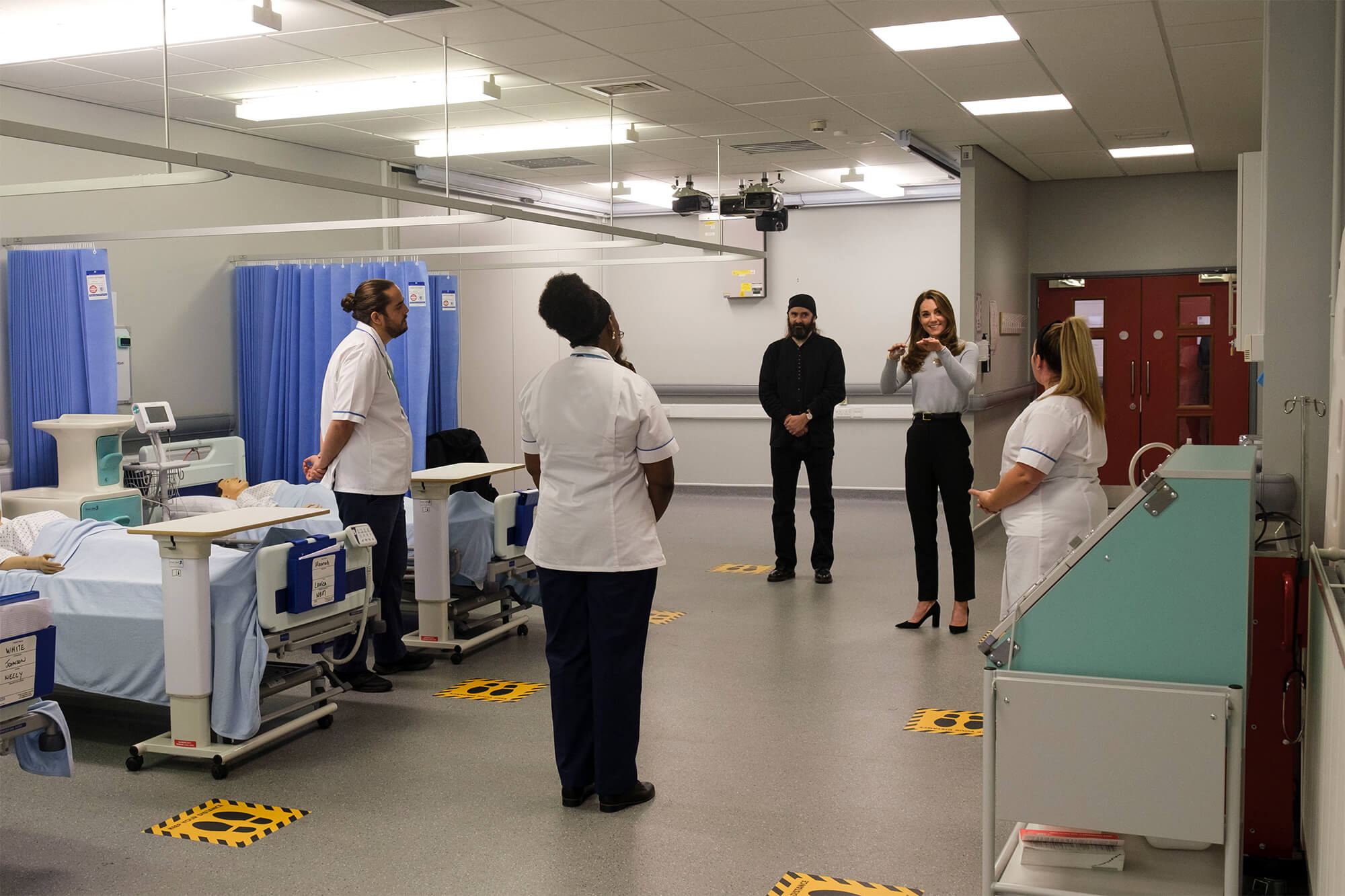 Duchess of Cambridge in mock ward at the University of Derby. Photography credit: Richard Richards