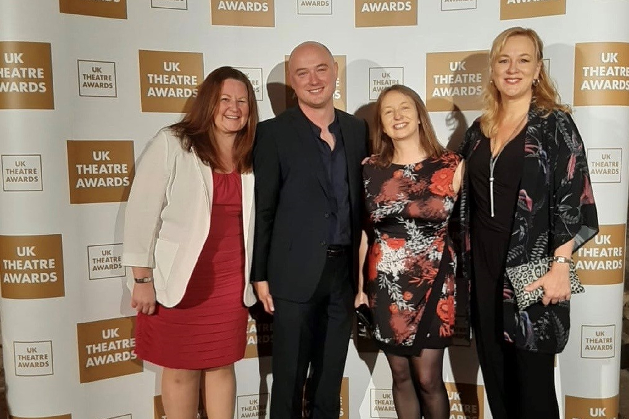 Team from Derby Theatre stand for their photo at the UK Theatre Awards