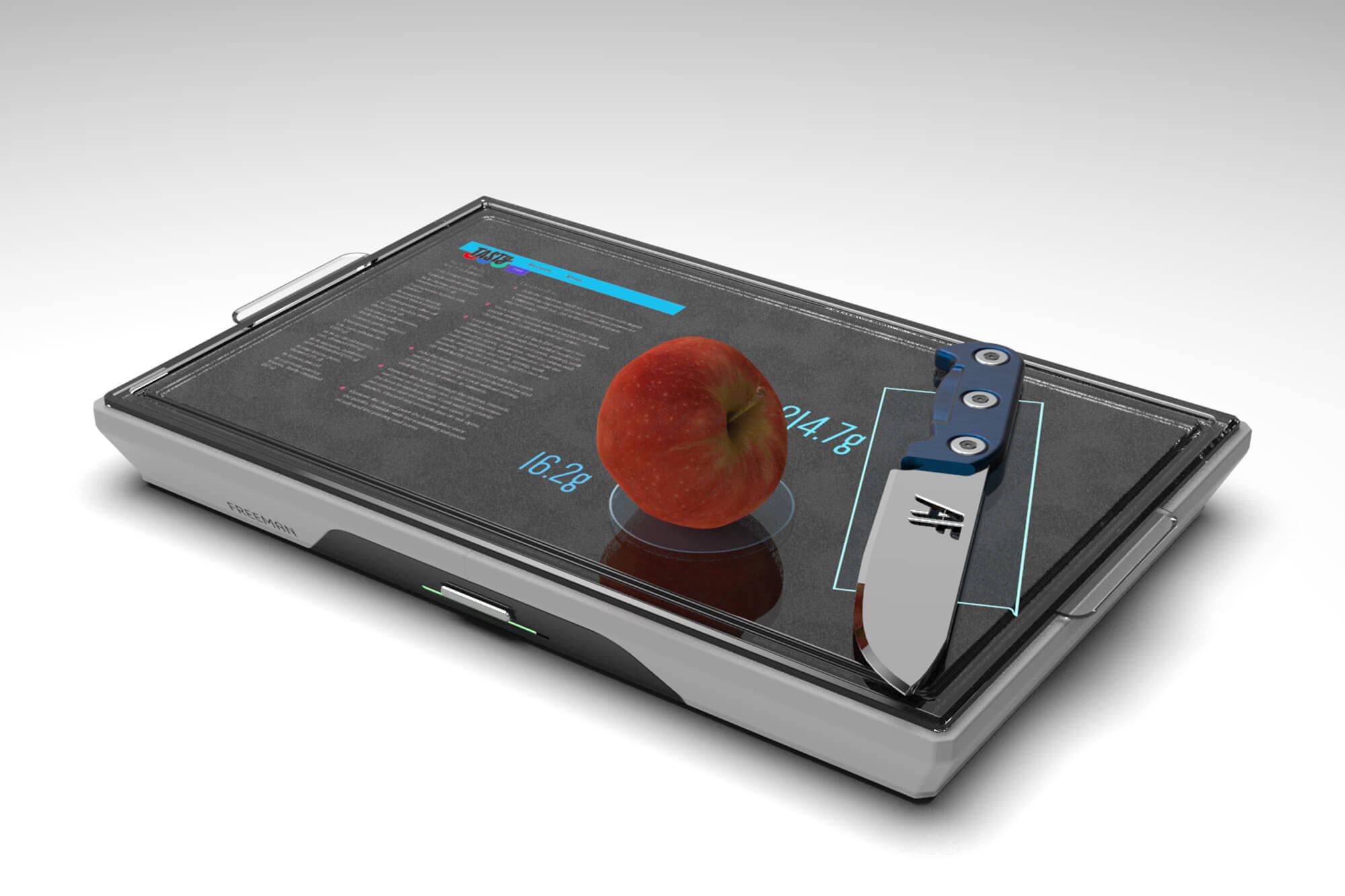 Digital image of a digital chopping board