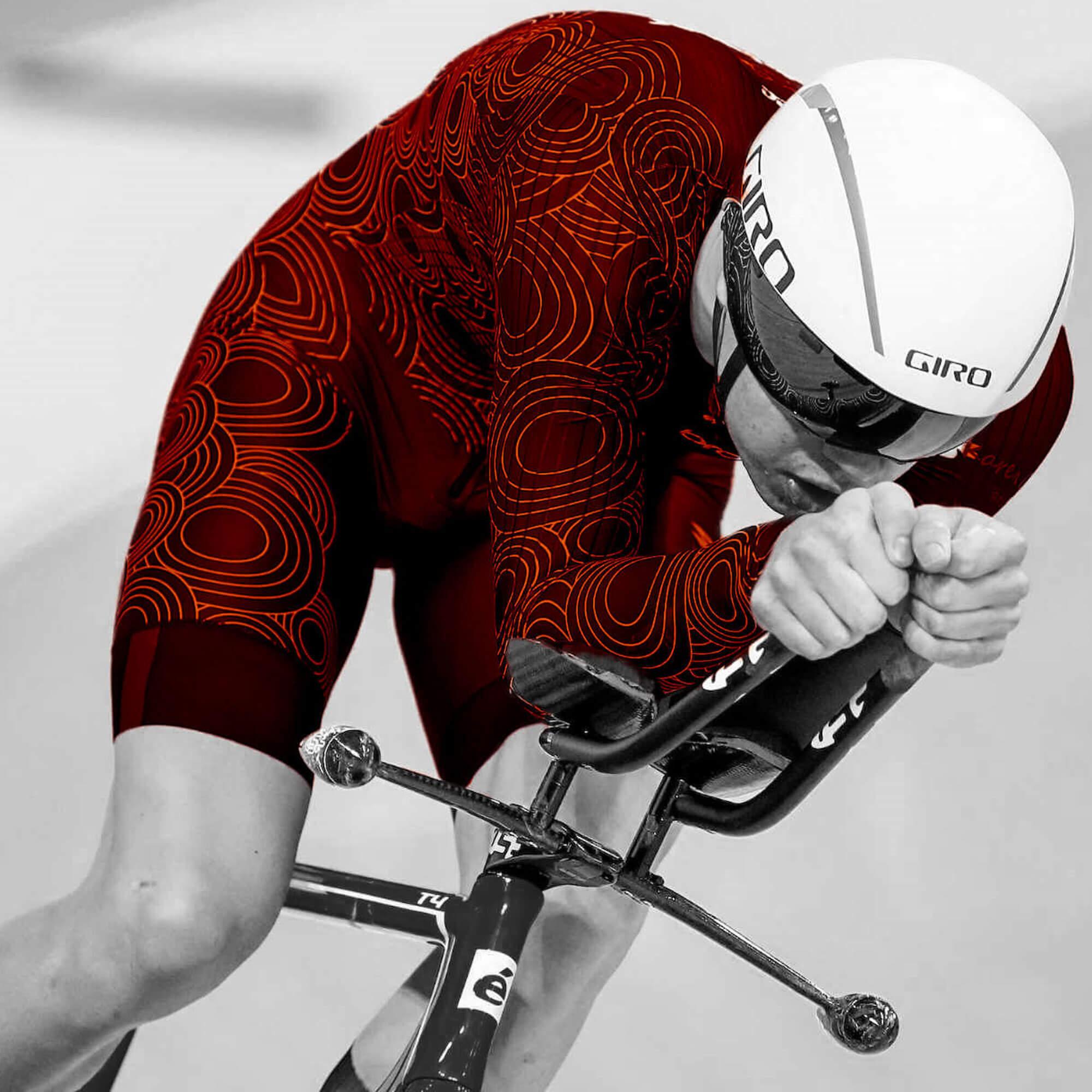 Velodrome track cyclist
