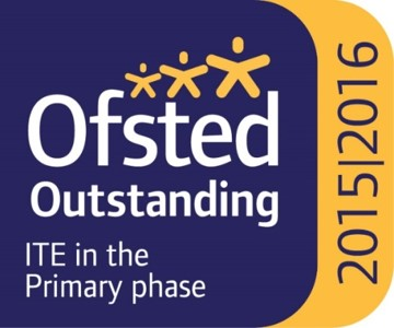 A logo to show that our ITE in the Primary Phase was rated Ofsted Outstanding in 2015/2016