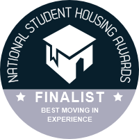 National Student Housing Awards 2021 Finalist - Best Moving-In Experience
