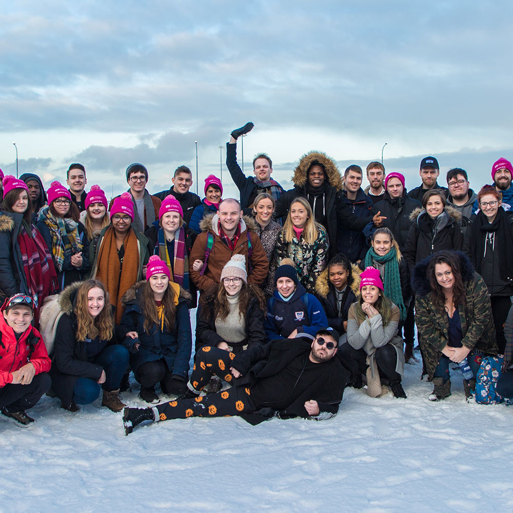 A group of International Travel Awards students in Iceland