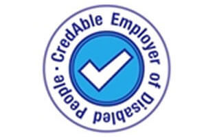 Logo: CredAble Employer of Disabled People