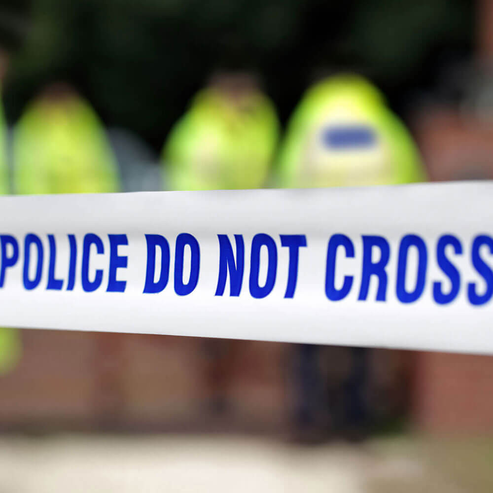 Police tape 'Do not cross' for Policing courses