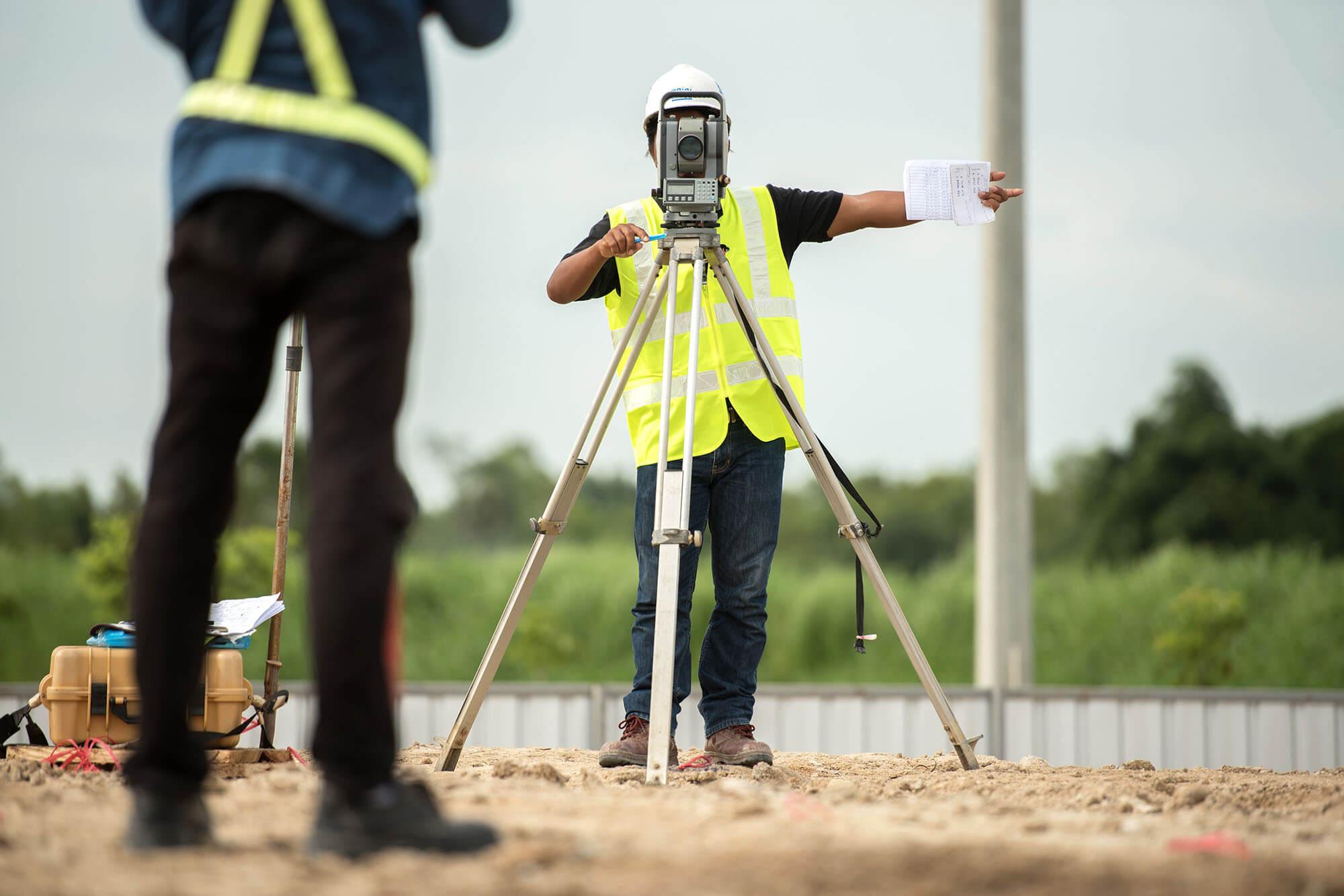 civil engineering hi-vis measuring