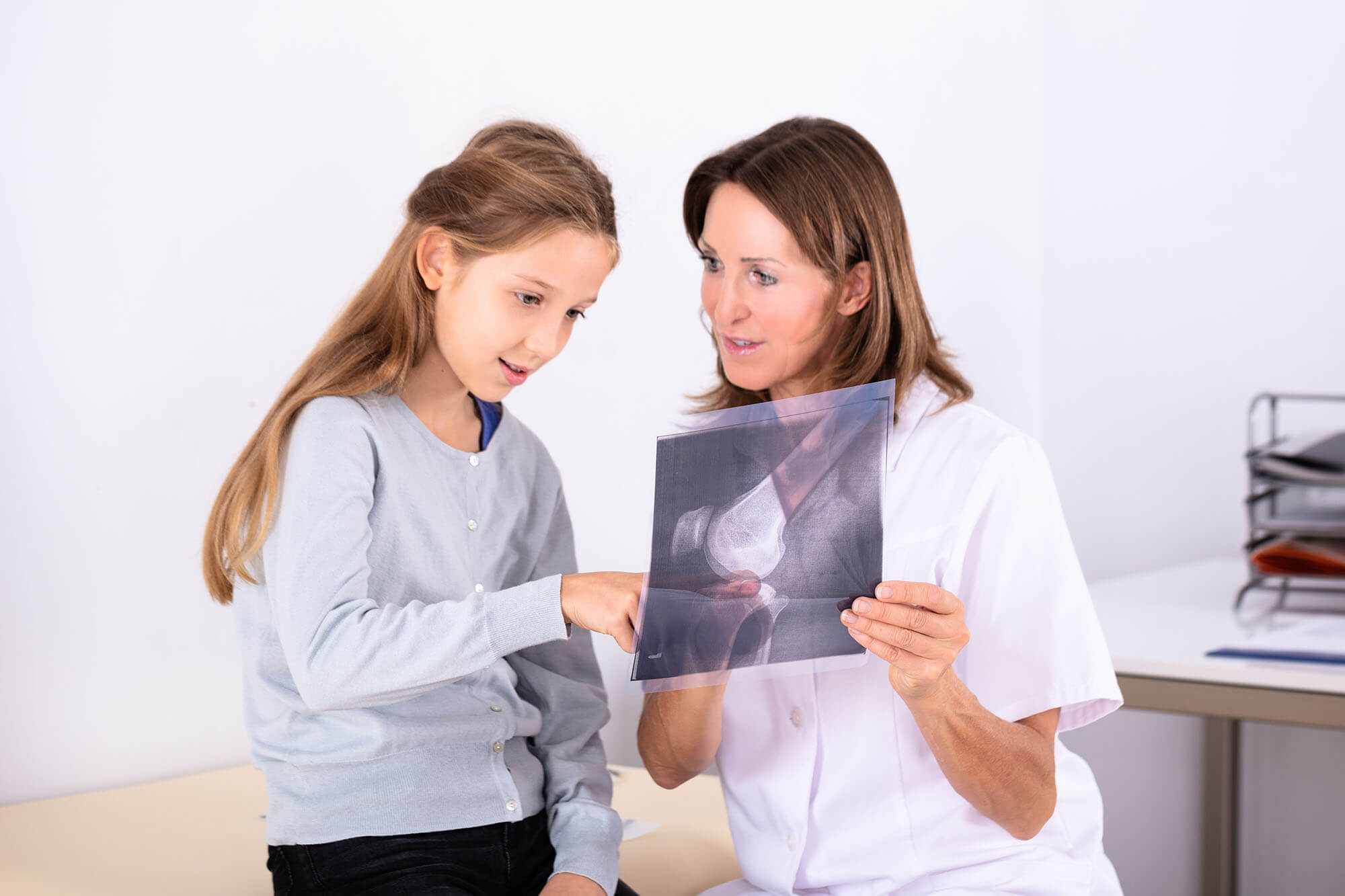 patient centred care diagnostic radiography lady with girl