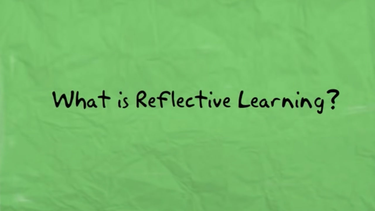 Reflective learning video