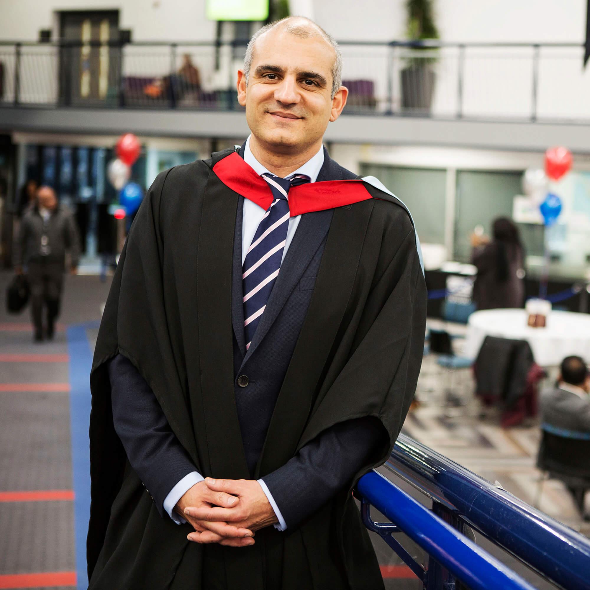 George Papakyritsis at his graduation