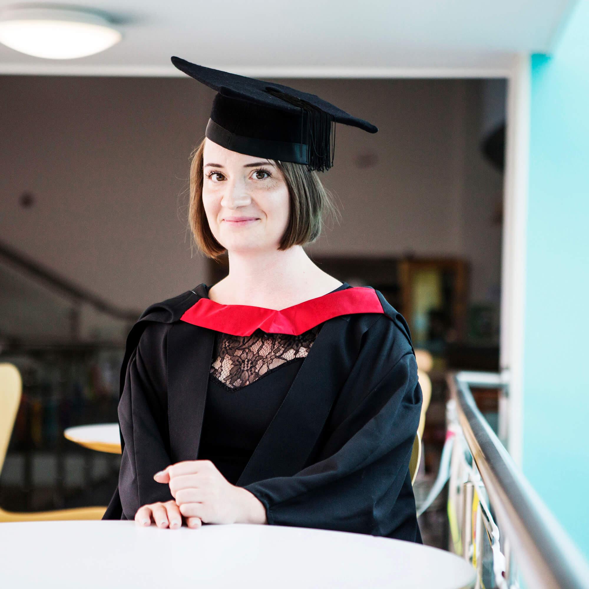 Kelly Davies at her graduation