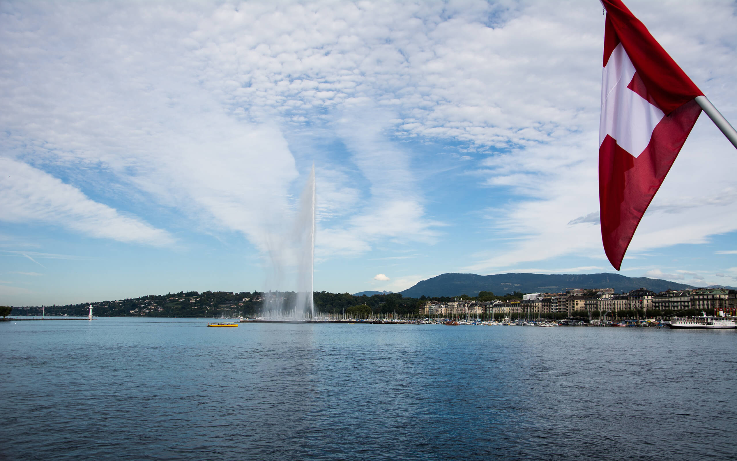 Lake Geneva in Switzerland