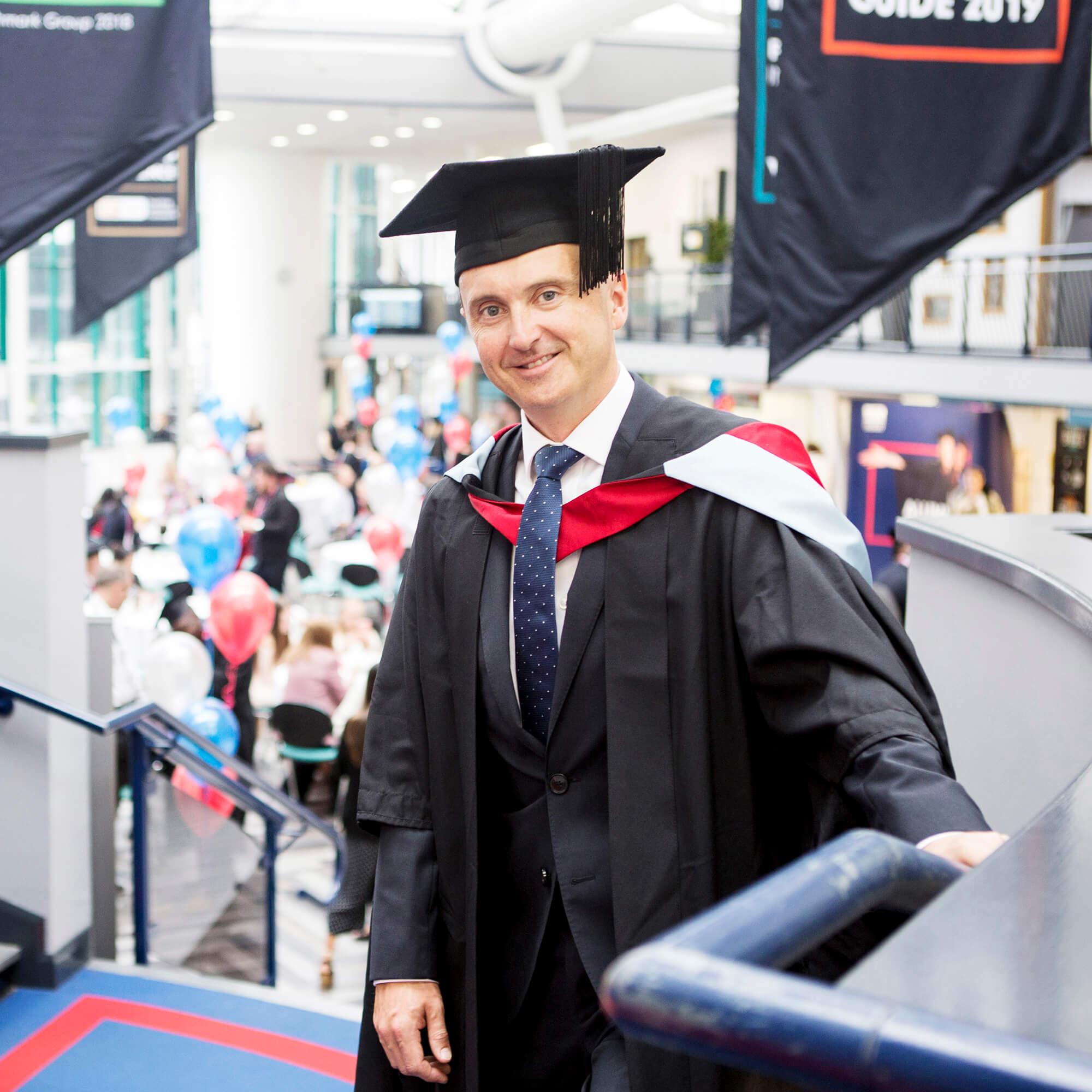 Nick Goddard at his graduation