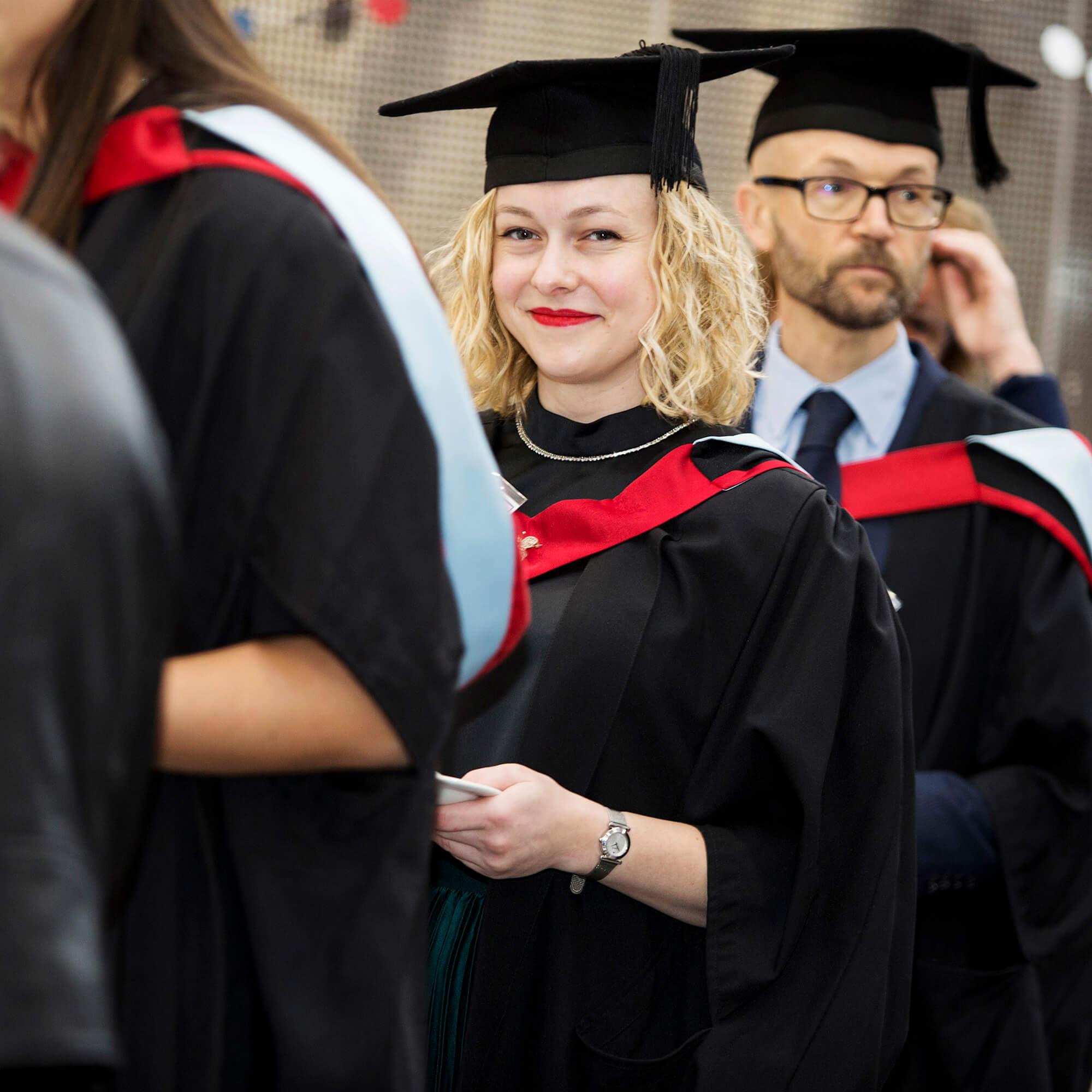 Philippa Tredget at her graduation reception