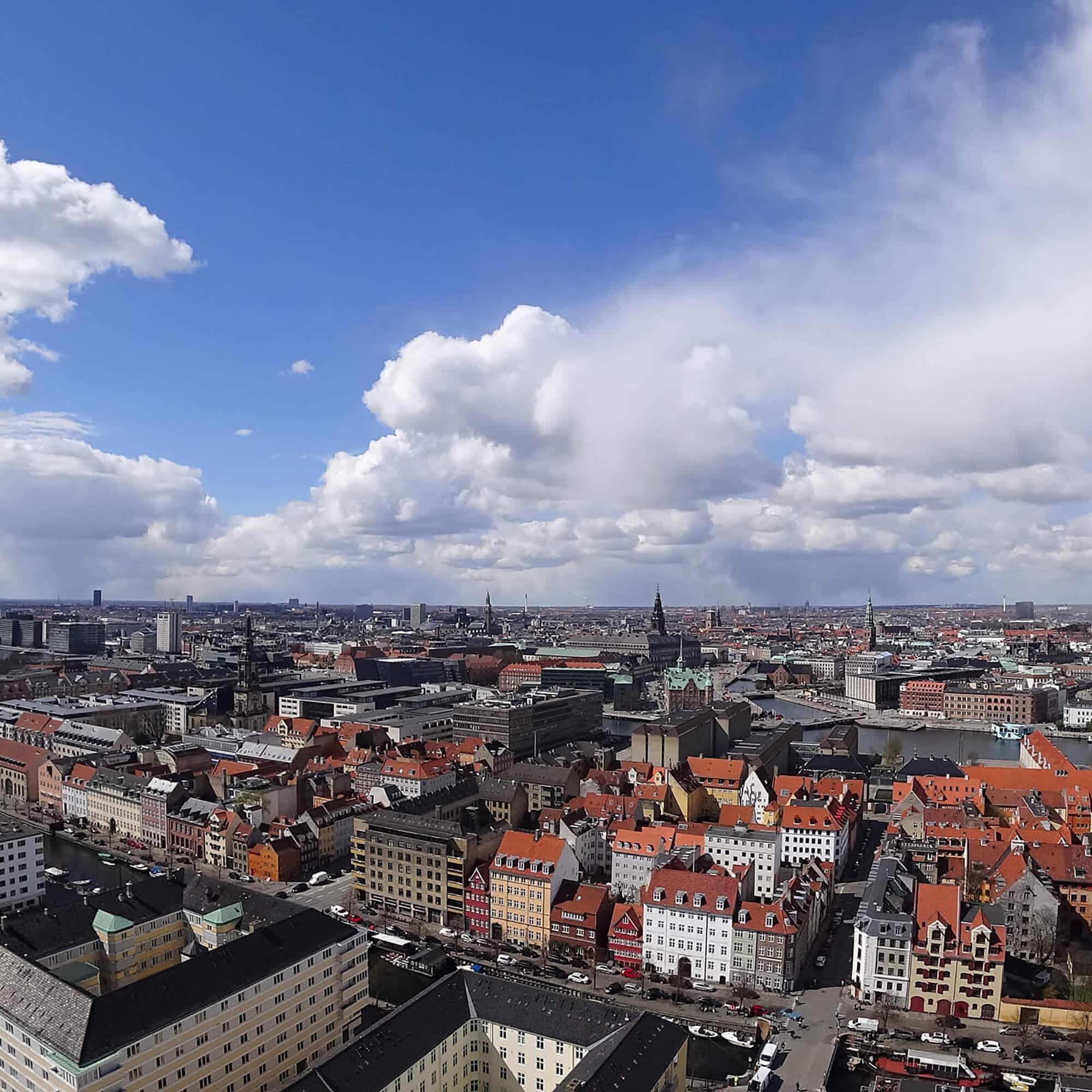 City buildings in Denmark