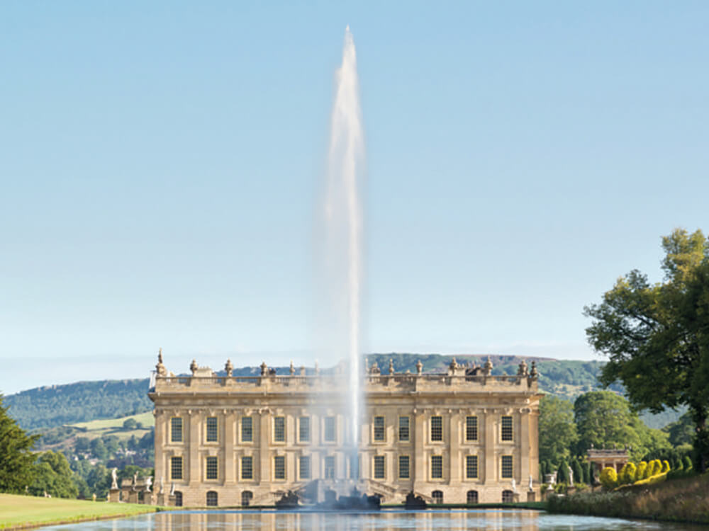 Chatsworth House and surrounding area