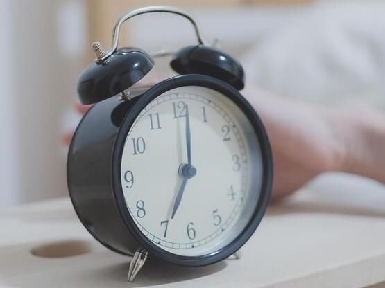 Alarm Clock showing 7:00