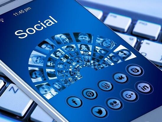 Mobile phone on social media