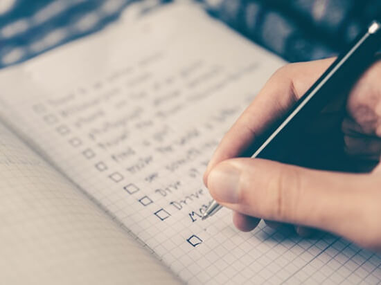 A checklist on paper