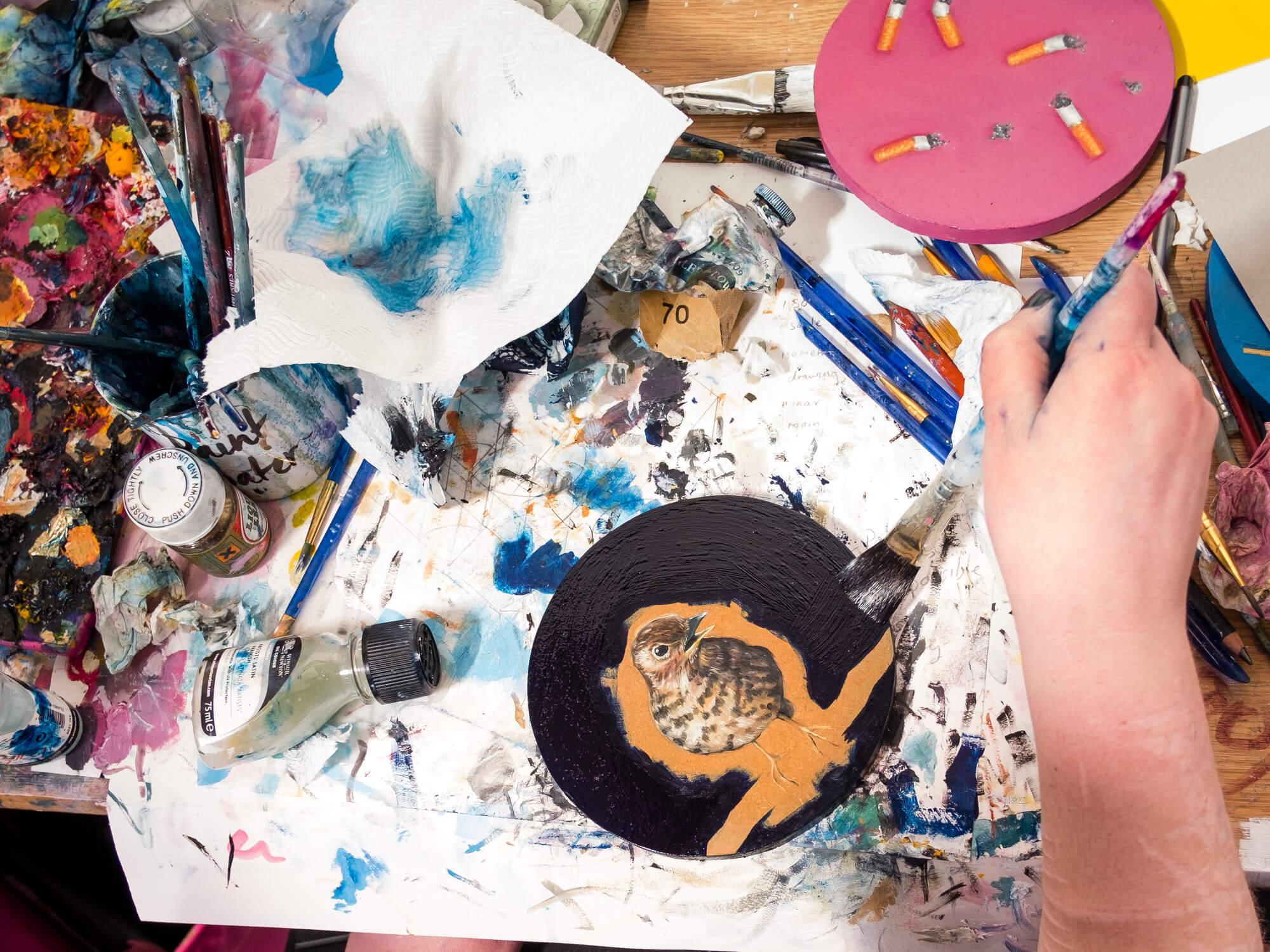 Fine Art student painting