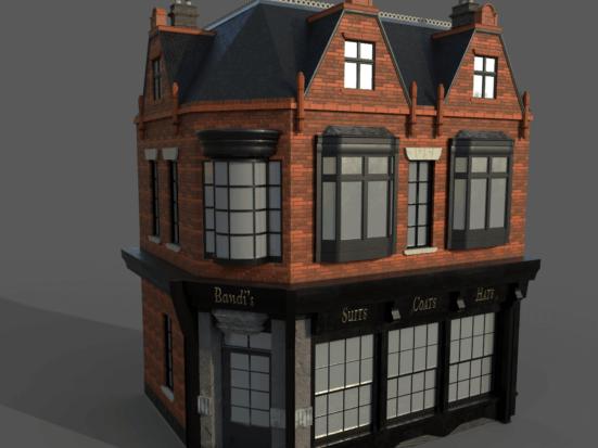 A 3D building