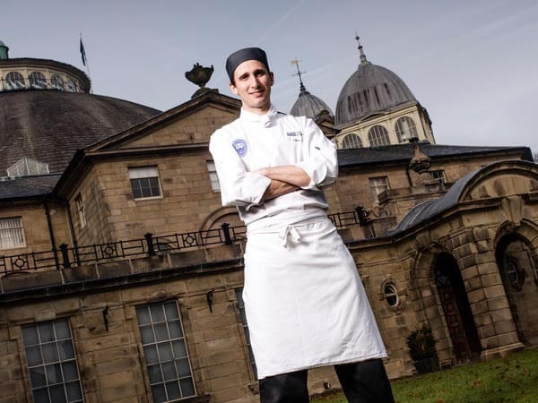 Professional chef posing for photo