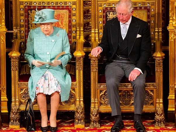 Queen giving a speech