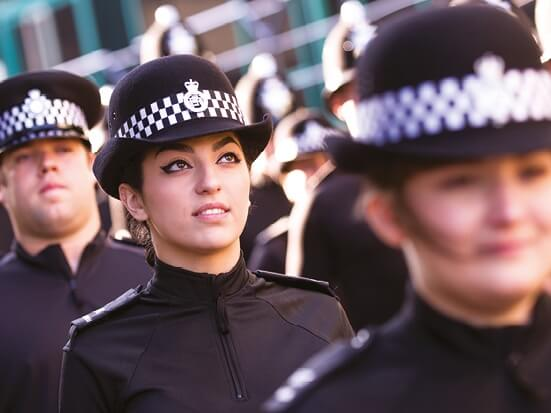 new police recruits in uniform